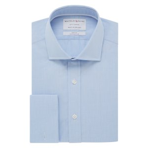 CITY CLASSIC Light Blue Poplin Double Cuff (Slim Fit)