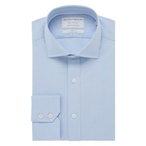 CITY CLASSIC Light Blue Poplin Single Cuff (Slim Fit)