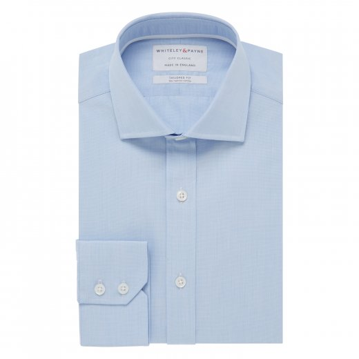 CITY CLASSIC Light Blue Poplin Single Cuff (Tailored Fit)