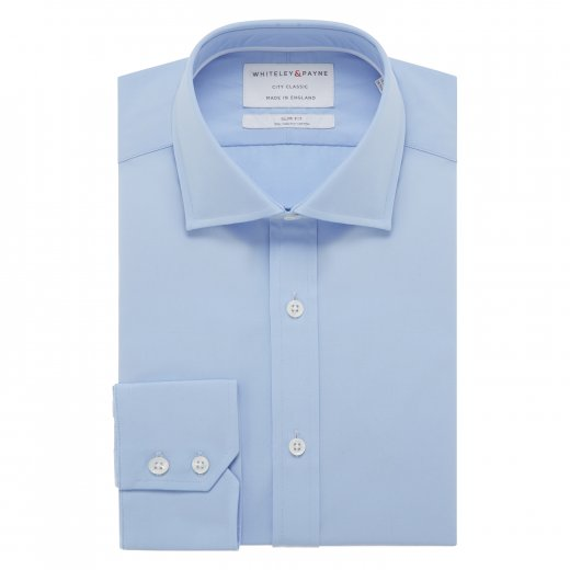 CITY CLASSIC Rich Blue Poplin Single Cuff (Slim Fit)