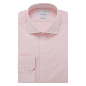 CITY CLASSIC Soft Pink Micro Check Poplin Single Cuff (Slim Fit)