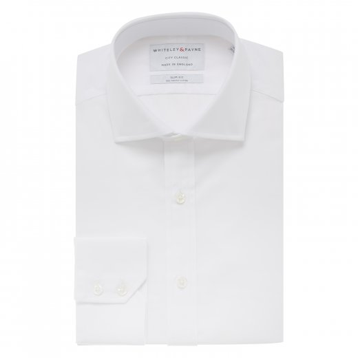 CITY CLASSIC White Poplin Single Cuff (Slim Fit)