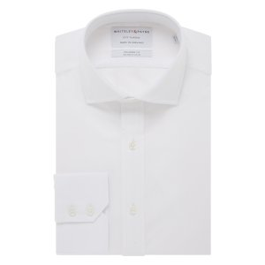 CITY CLASSIC White Poplin Single Cuff (Tailored Fit)