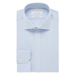 CITY FLYER Light Blue Micro Stripe Poplin Single Cuff (Slim Fit)