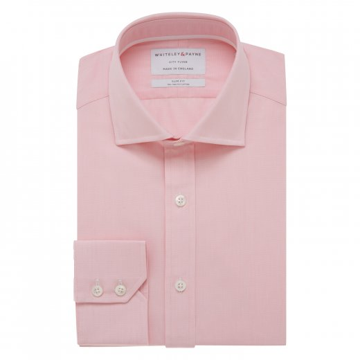 CITY FLYER Pink Poplin Single Cuff (Slim Fit)