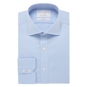 CITY FLYER Rich Blue Oxford Single Cuff (Slim Fit)
