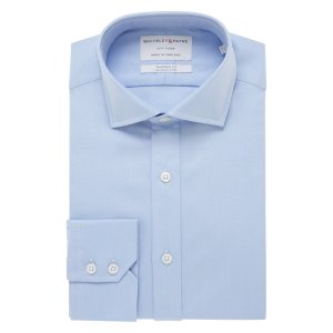 CITY FLYER Rich Blue Oxford Single Cuff (Tailored Fit)