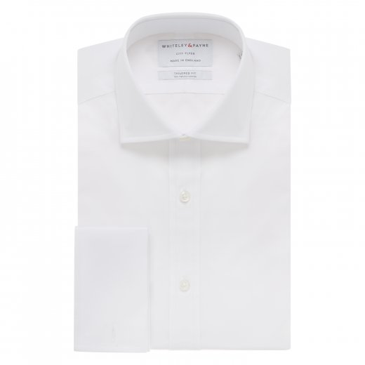 CITY FLYER White Poplin Double Cuff (Tailored Fit)