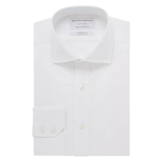 CITY FLYER White Poplin Single Cuff (Tailored Fit)
