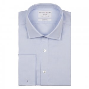 TRAVELLER Light Blue Twill Double Cuff (Tailored Fit)