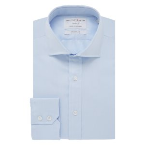 TRAVELLER Light Blue Twill Single Cuff (Tailored Fit)