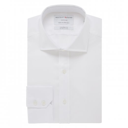 TRAVELLER White Oxford Single Cuff (Tailored Fit)