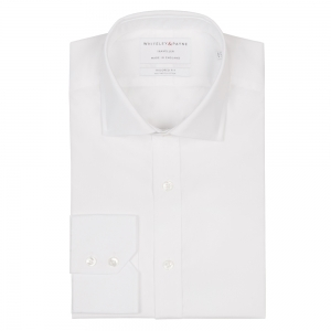 TRAVELLER White Poplin Single Cuff (Tailored Fit)